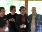 The band on our screened porch,  at home, Falmouth, VA