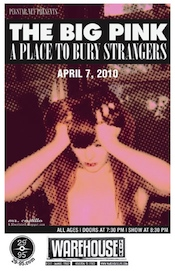 Big Pink/APtBS poster from April 2010