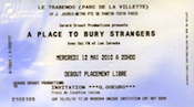 Ticket for a APtBS show