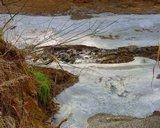 Ice on Rappahannock river, Falmouth Virginia
