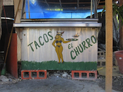 Taco stand, Tulum, Mexico