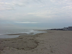 Ocean beach in Cape May, NJ