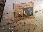 old newspaper at abandoned motel, Falmouth, VA